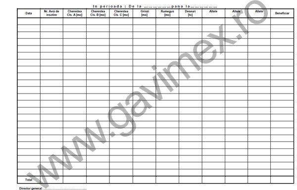 6. Tabele de cubaj si alte formulare